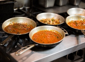 Pasta Sauces Ready to be Plated